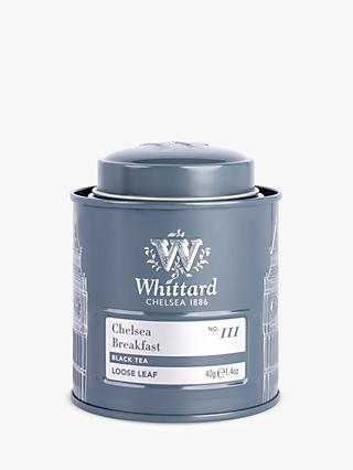 Whittard Chelsea Breakfast Loose Leaf Black Tea Mini Tin, 40g