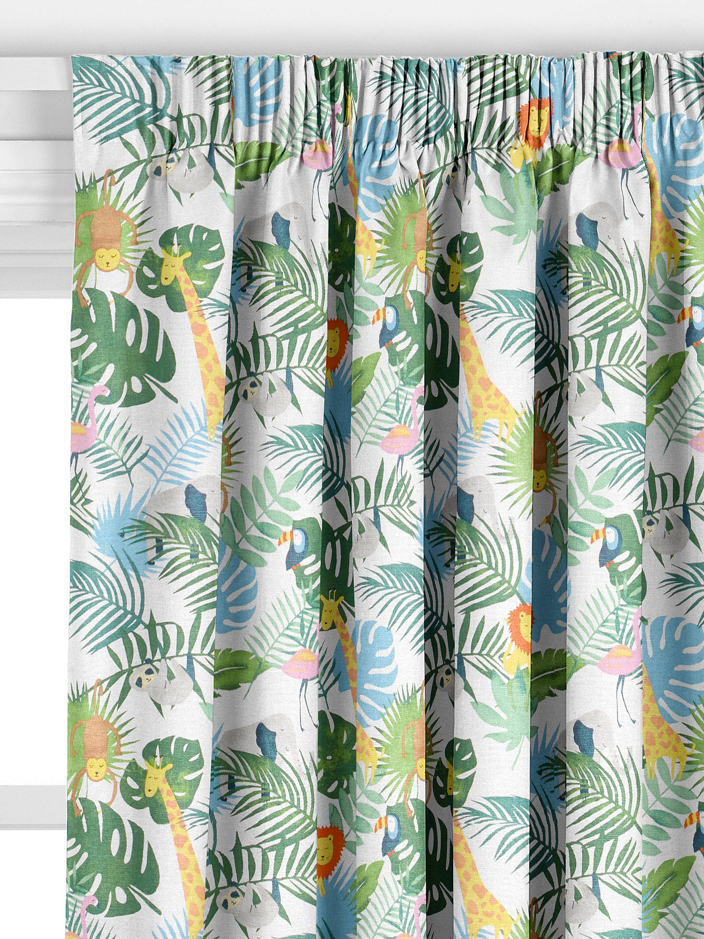 John Lewis Partners Safari And Friends Made To Measure Curtains Multi At John Lewis Partners
