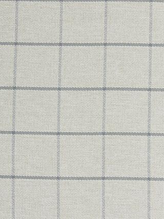 John Lewis & Partners Classic Check Made to Measure Curtains or Roman Blind, Storm