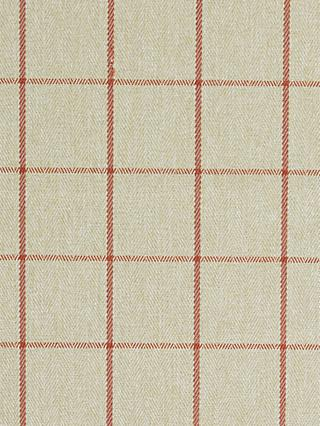 John Lewis & Partners Classic Check Made to Measure Curtains or Roman Blind, Auburn