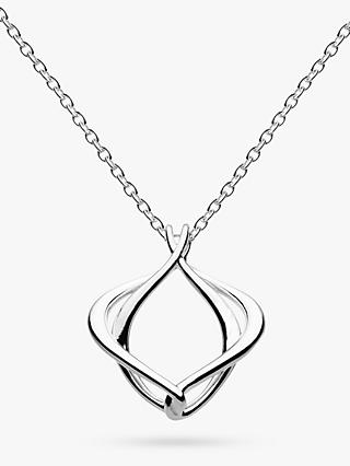 Kit Heath Alicia Abstract Pendant Necklace, Silver