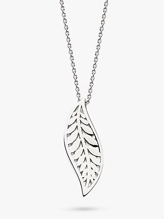 Kit Heath Blossom Leaf Pendant Necklace, Silver