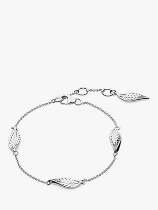 Kit Heath Blossom Leaf Chain Bracelet, Silver