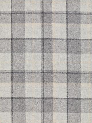 John Lewis & Partners Wool Check Made to Measure Curtains or Roman Blind, Flint