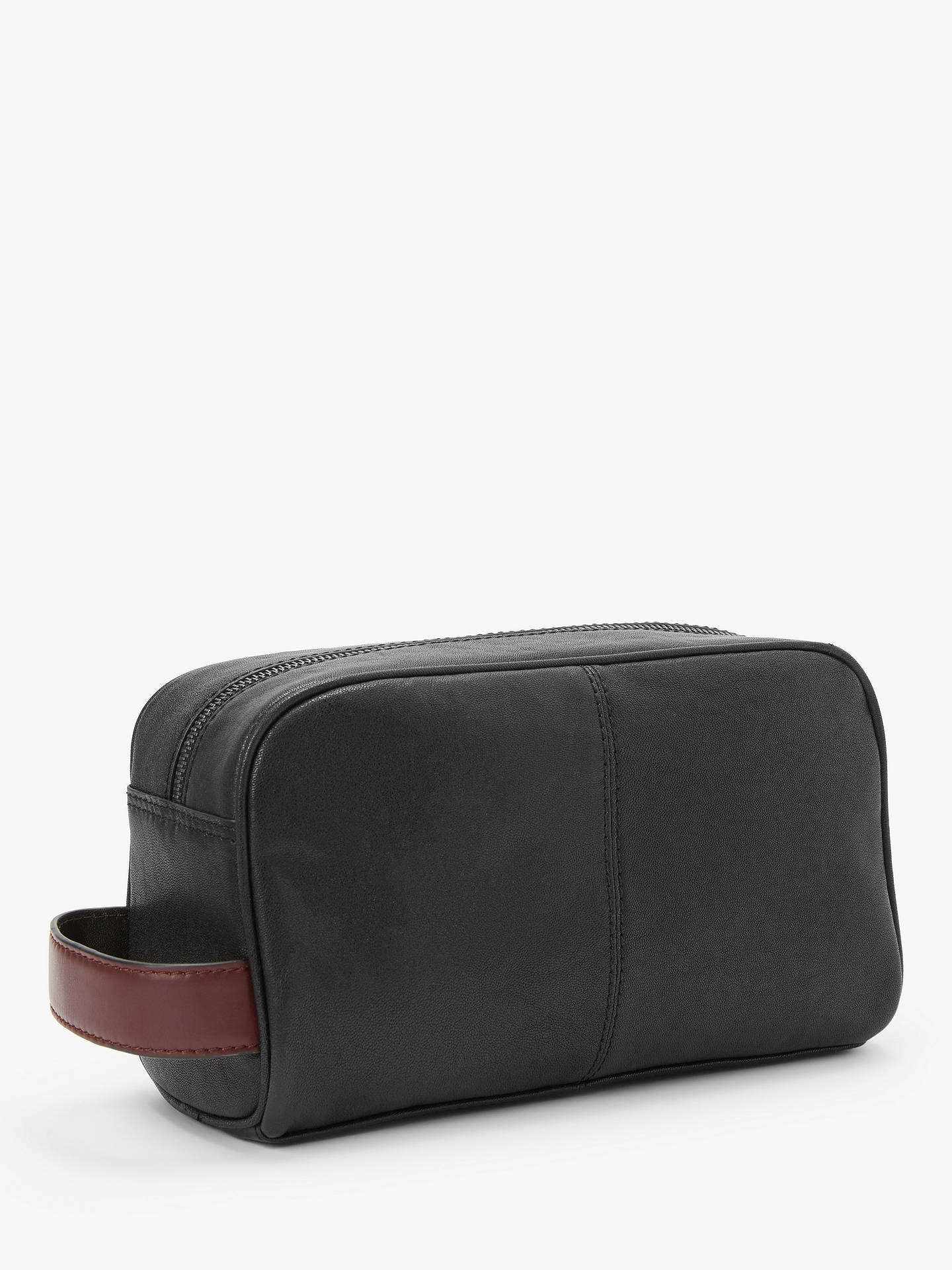 Buy Ted Baker Leather Wash Bag, Black Online at johnlewis.com