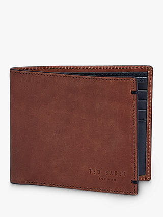 Buy Ted Baker Farthin Leather Bifold Wallet, Tan Online at johnlewis.com