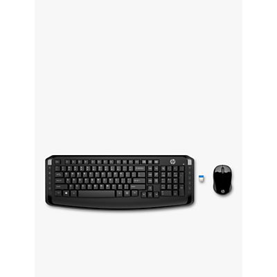Image of HP Wireless Combo 300 Keyboard and Mouse, Black