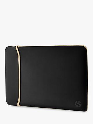"HP 14"" Reversible Laptop Sleeve, Black/Gold"