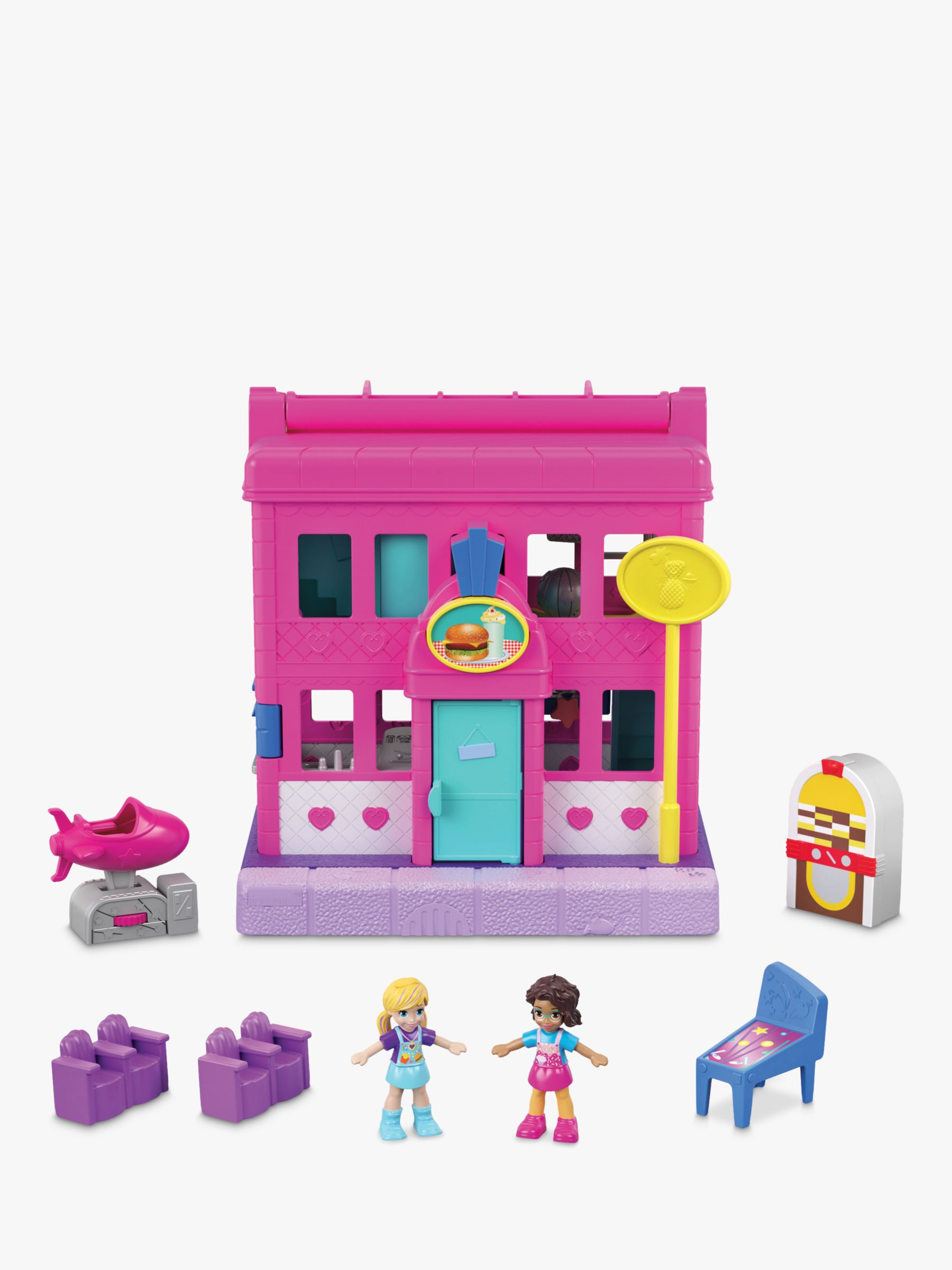 Mattel Polly Pocket Pollyville Peanut Pit Stop