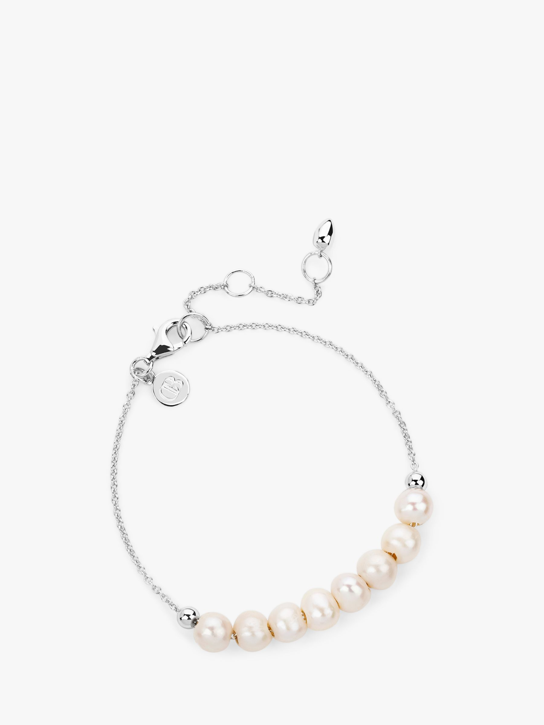 Claudia Bradby Claudia Bradby Freshwater Pearl Chain Bracelet, Silver/White