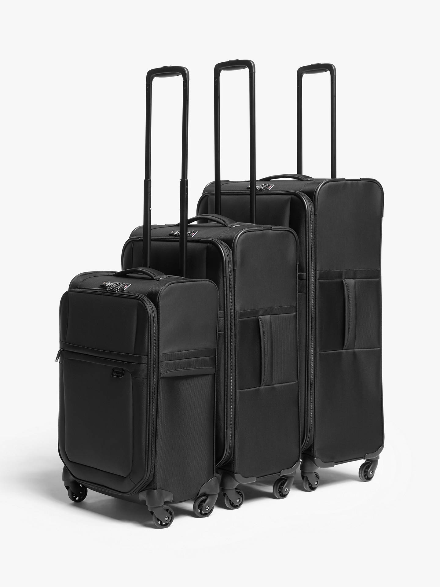 Buy Samsonite Uplite 4-Wheel 67cm Spinner Suitcase, Black Online at johnlewis.com