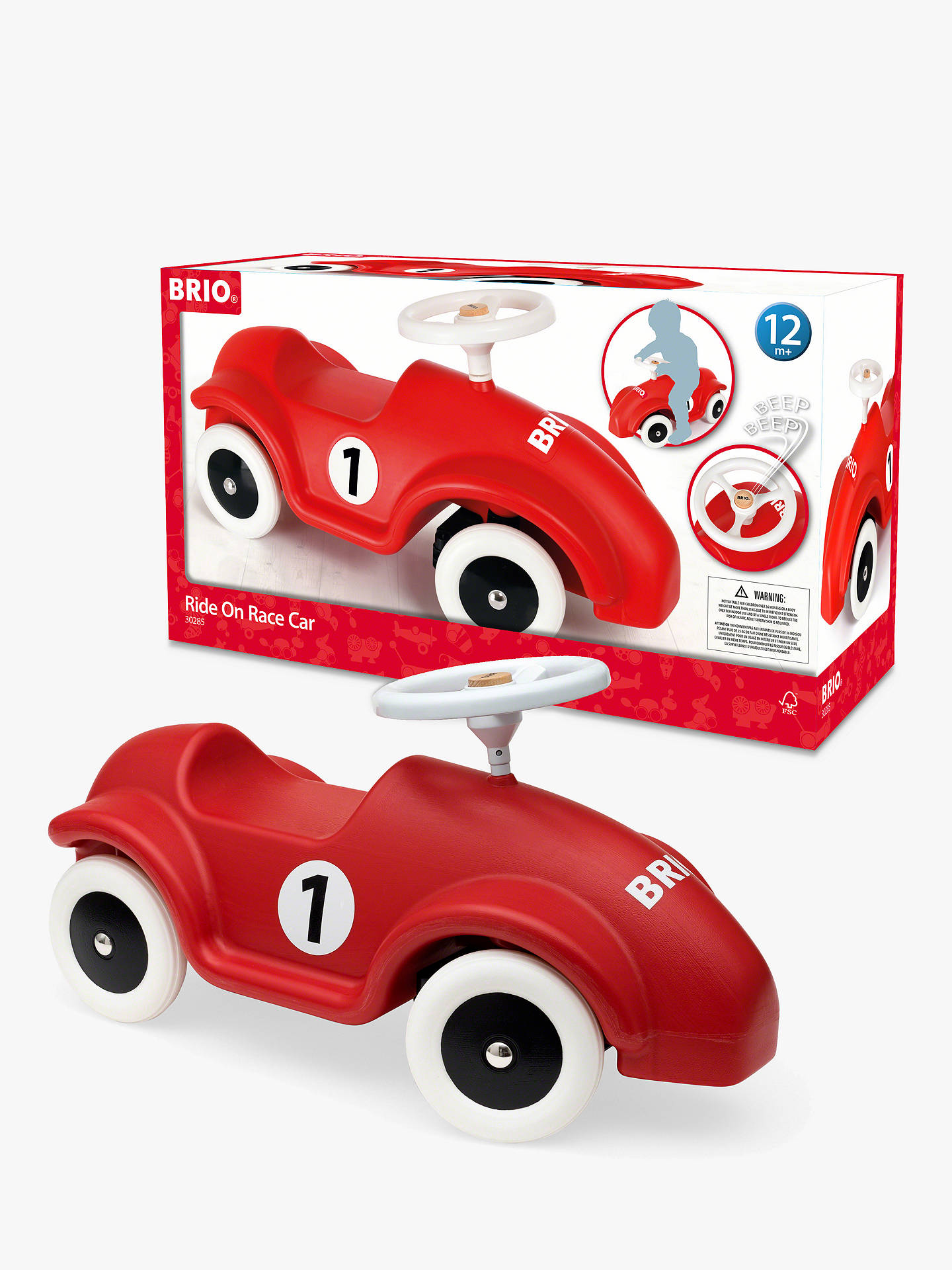 Brio Ride On Race Car At John Lewis Partners