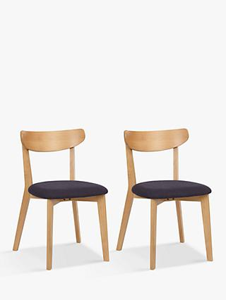 House by John Lewis Clio Dining Chairs, Set of 2, Oak
