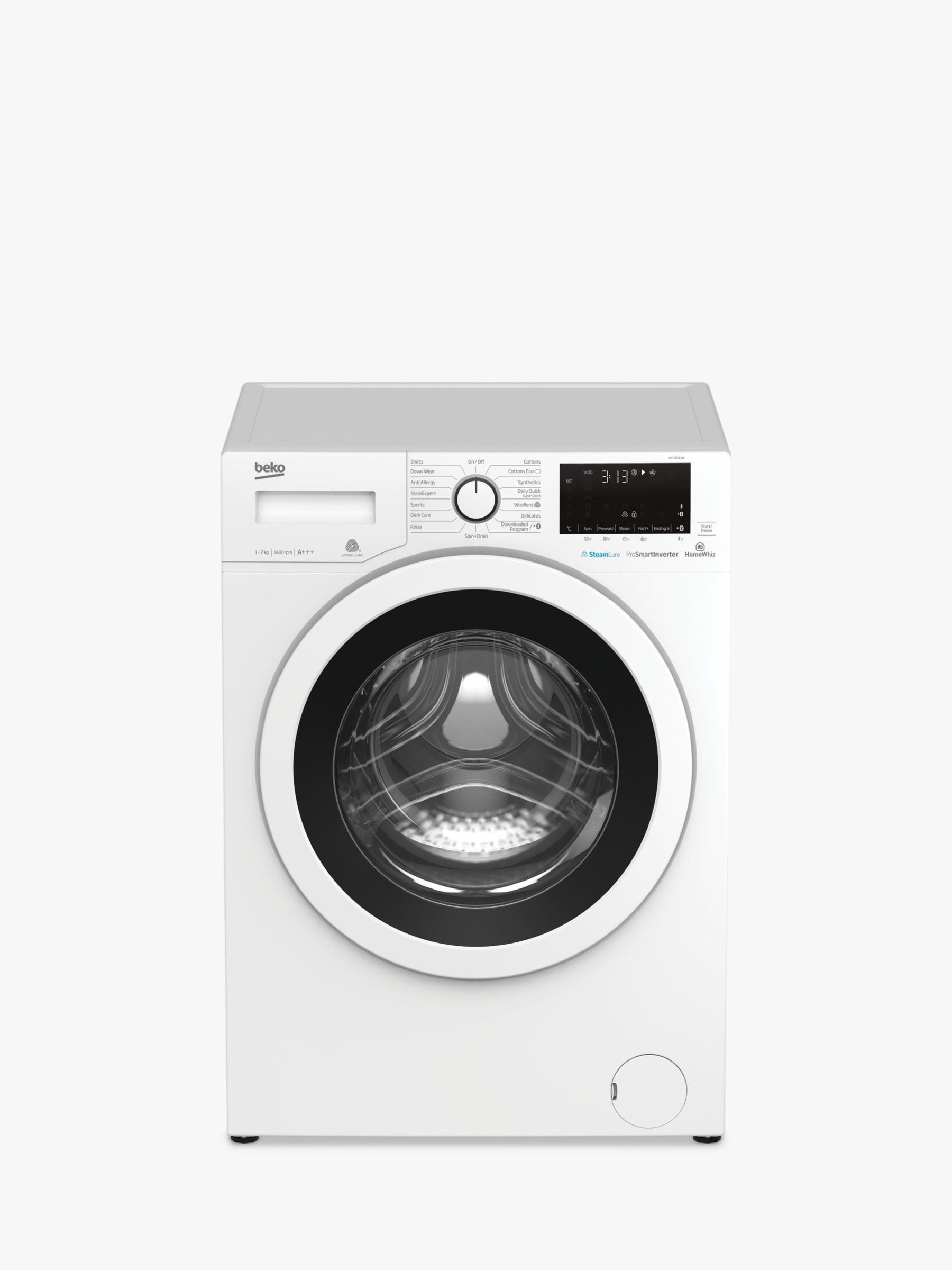 Beko Beko WY74042W Freestanding Washing Machine, 7kg Load, A+++ Energy Rating, 1400rpm, White