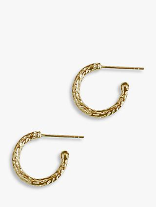 Matthew Calvin Textured Hug Hoop Earrings