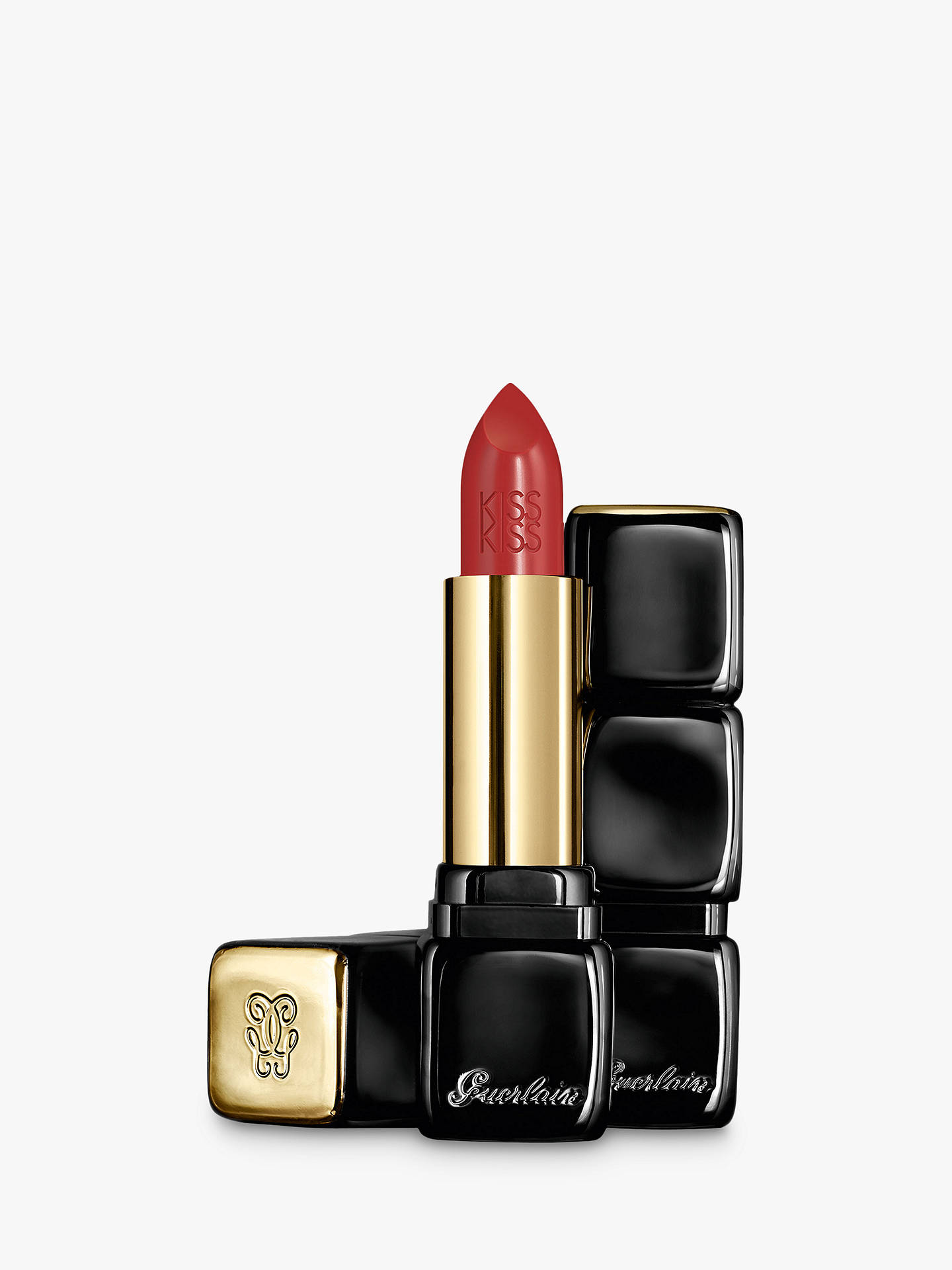 Buy Guerlain Kiss Kiss Lipstick, 330 Red Brick Online at johnlewis.com