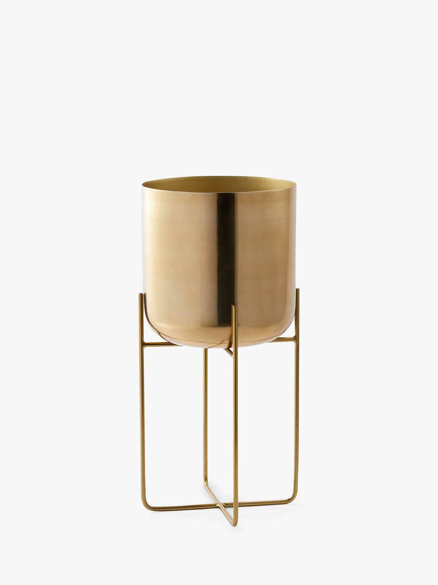 Buy west elm Spun Metal Large Standing Planter, Brass Online at johnlewis.com