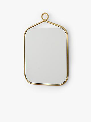 west elm Metal Loop Round Rectangular Mirror, Antique Brass