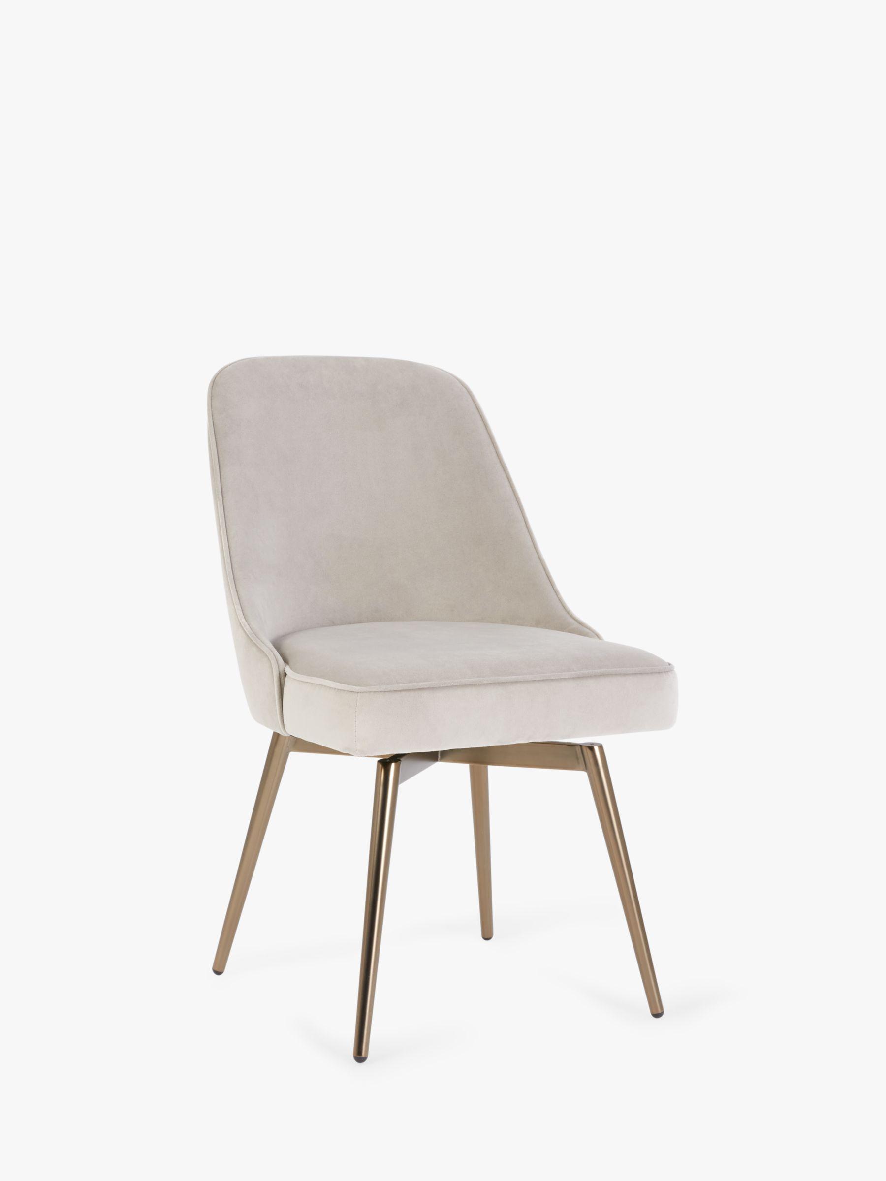 west elm Mid-Century Velvet Swivel Office Chair, Dove Grey