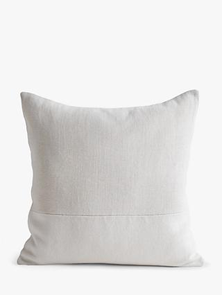 west elm Large Cotton Canvas Cushion, White
