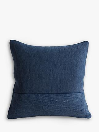 west elm Cotton Canvas Cushion, Midnight