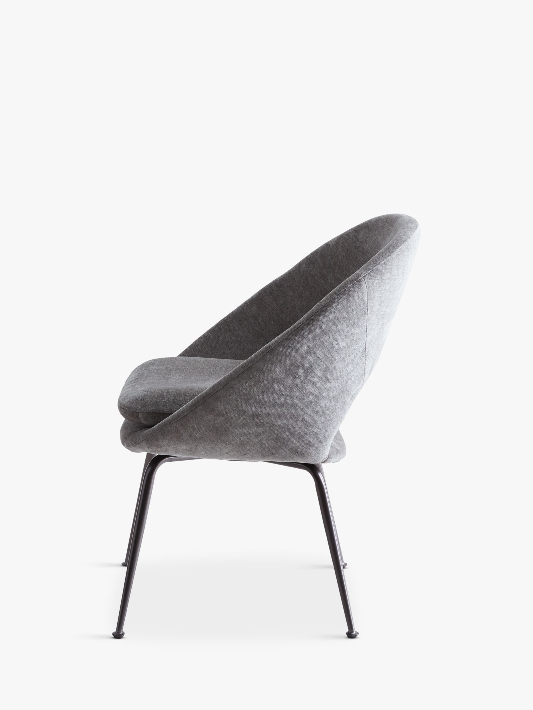 URBNLIVING Folding Chairs Padded Steel Stools with Soft Fabric Velvet Cushions Grey