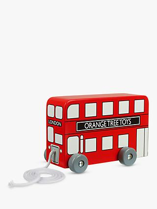Orange Tree London Bus Pull Along Wooden Toy