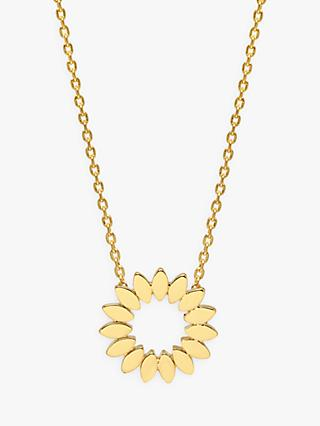 Estella Bartlett Modern Floral Pendant Necklace, Gold
