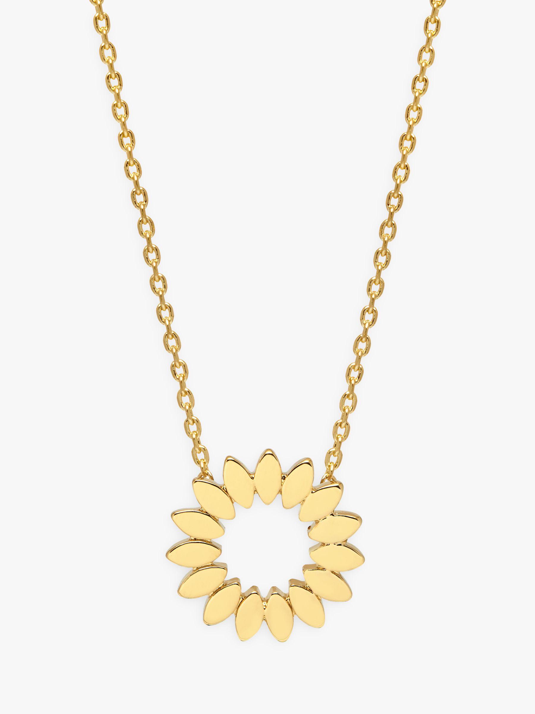 Estella Bartlett Estella Bartlett Modern Floral Pendant Necklace, Gold
