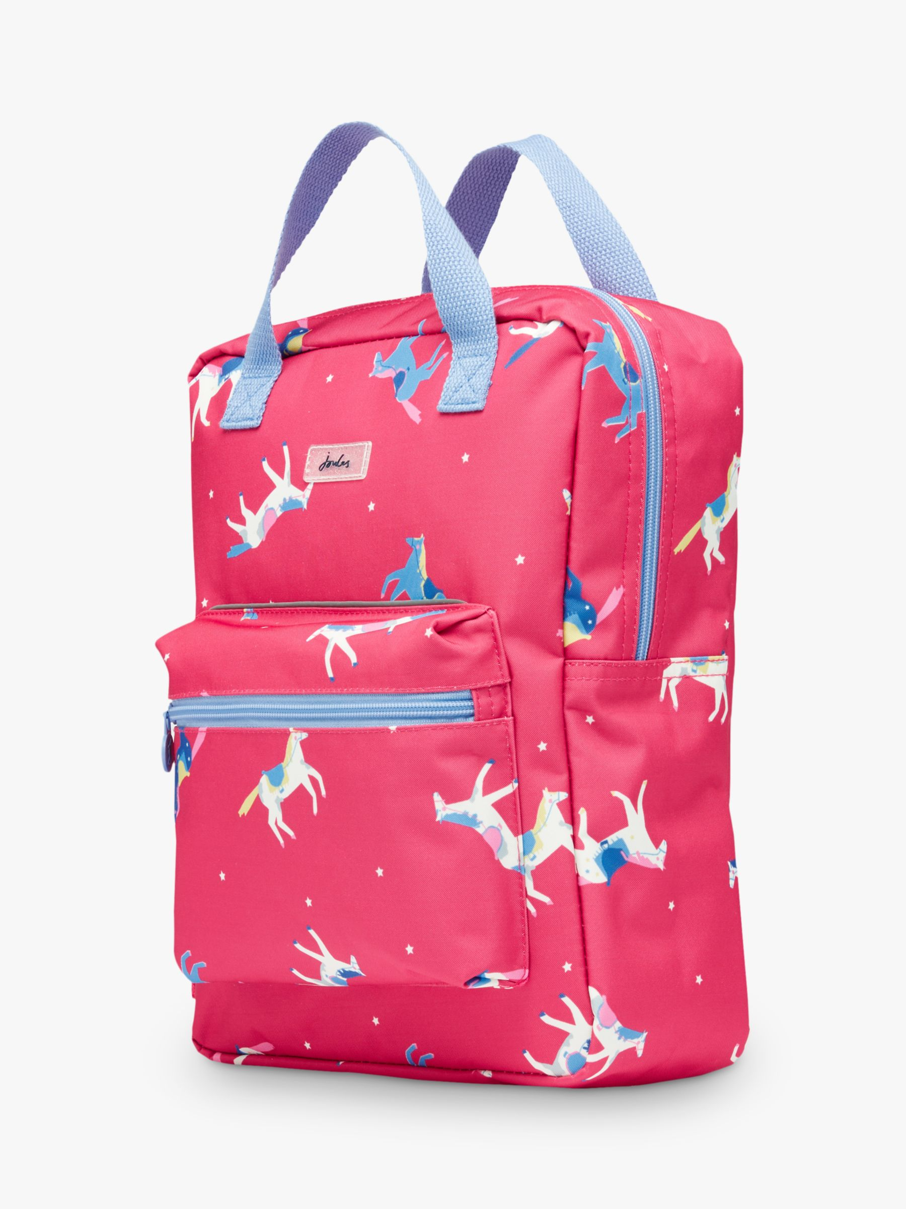 Joules Little Joule Children's Horse Print Easton Backpack, Pink
