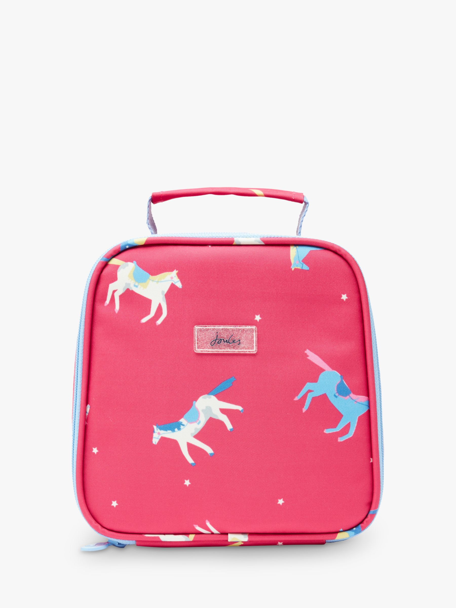 Joules Little Joule Children's Horse Print Lunch Bag, Pink
