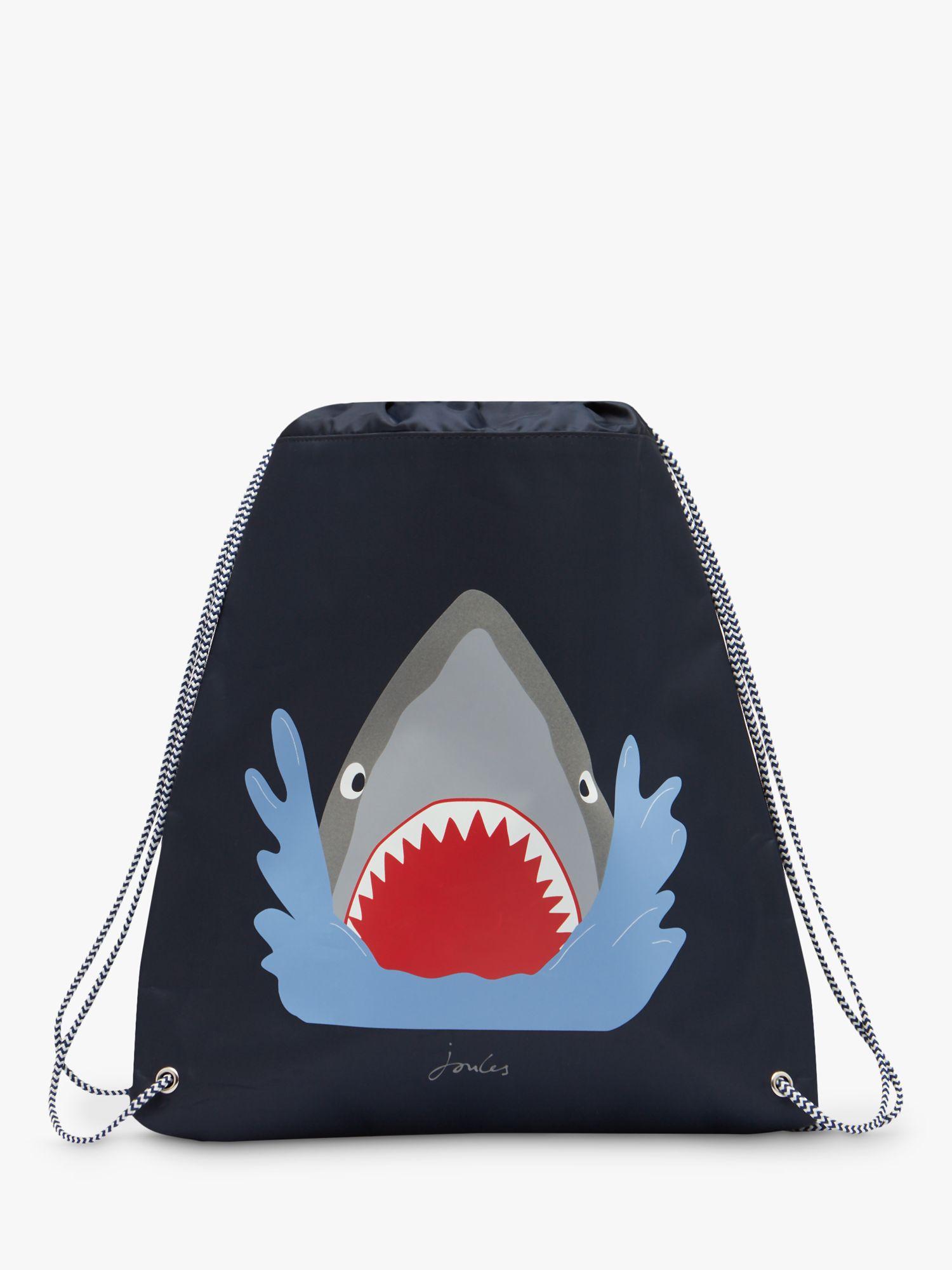 Joules Little Joule Children's Shark Active Bag, Blue