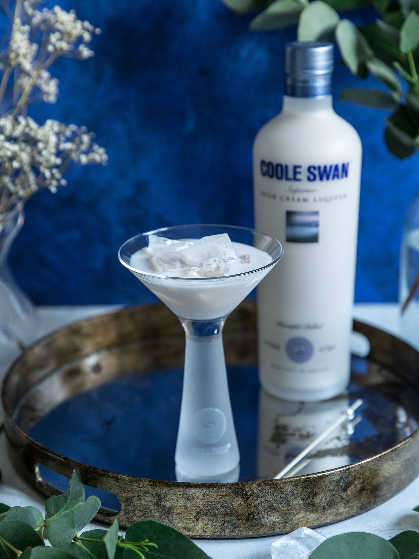 Buy Coole Swan Superior Irish Cream Liqueur with 2x Glasses Online at johnlewis.com