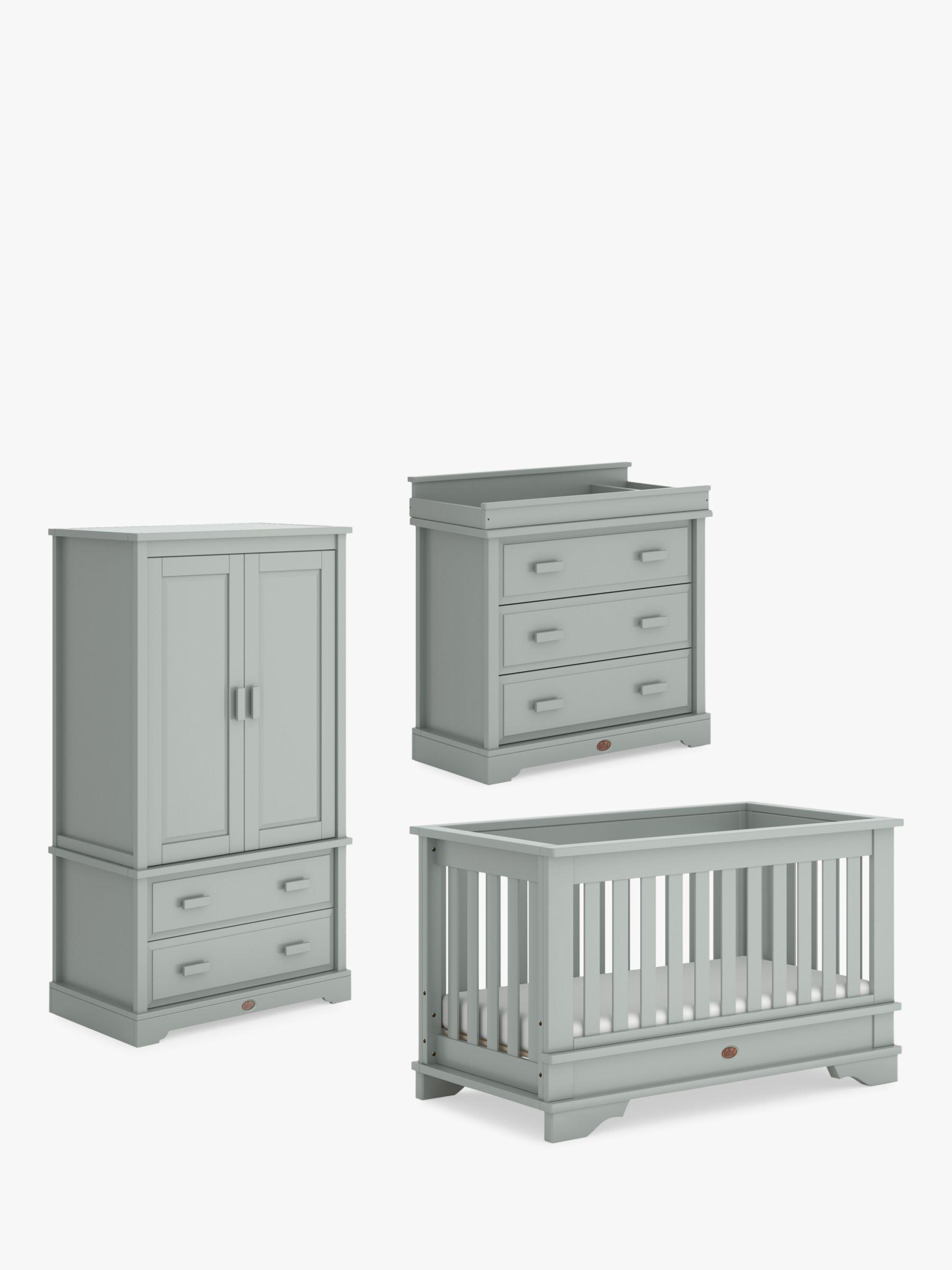 Boori Boori Eton Convertible Cotbed, Wardrobe & Dresser, Pebble Grey