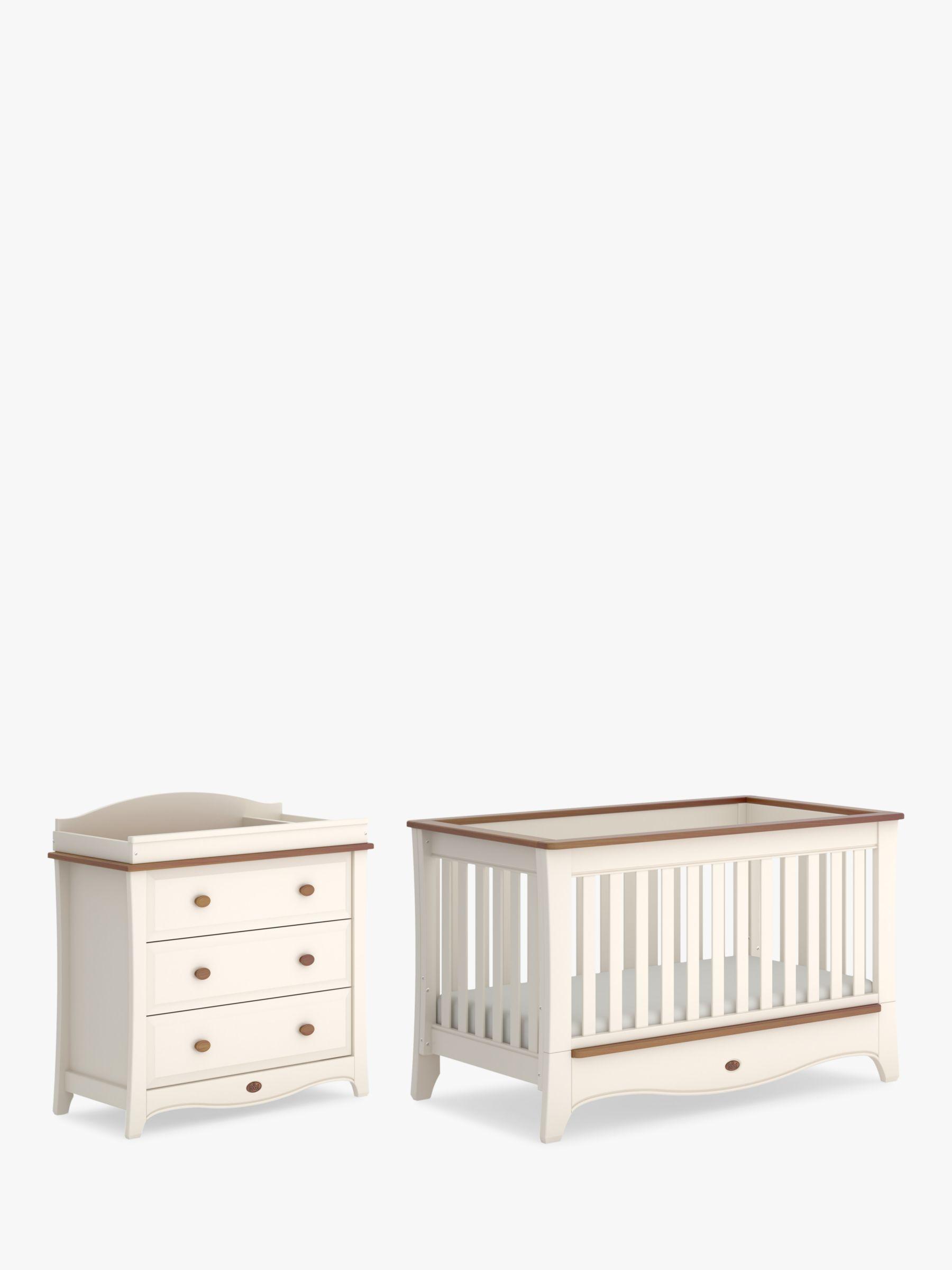 Boori Boori Provence Convertible Plus Cotbed & 3 Drawer Dresser, Cream/Pecan