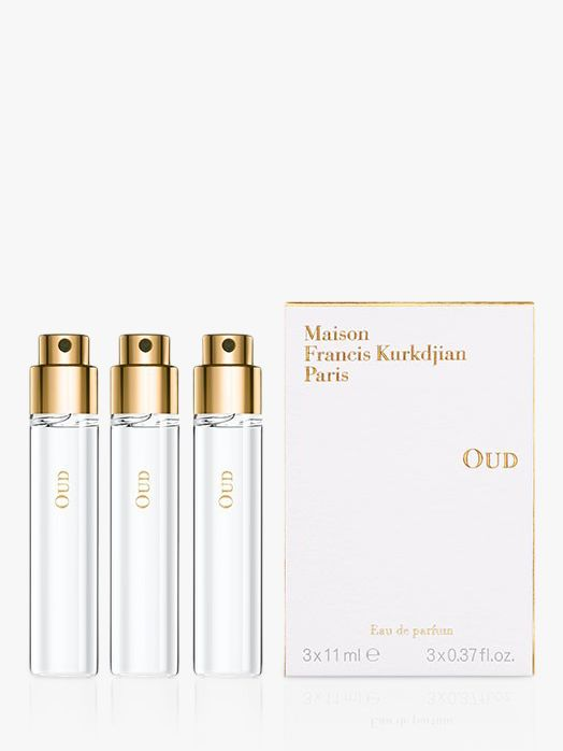Maison Francis Kurkdjian Maison Francis Kurkdjian Oud Eau de Parfum Natural Spray Refills, 3 x 11ml