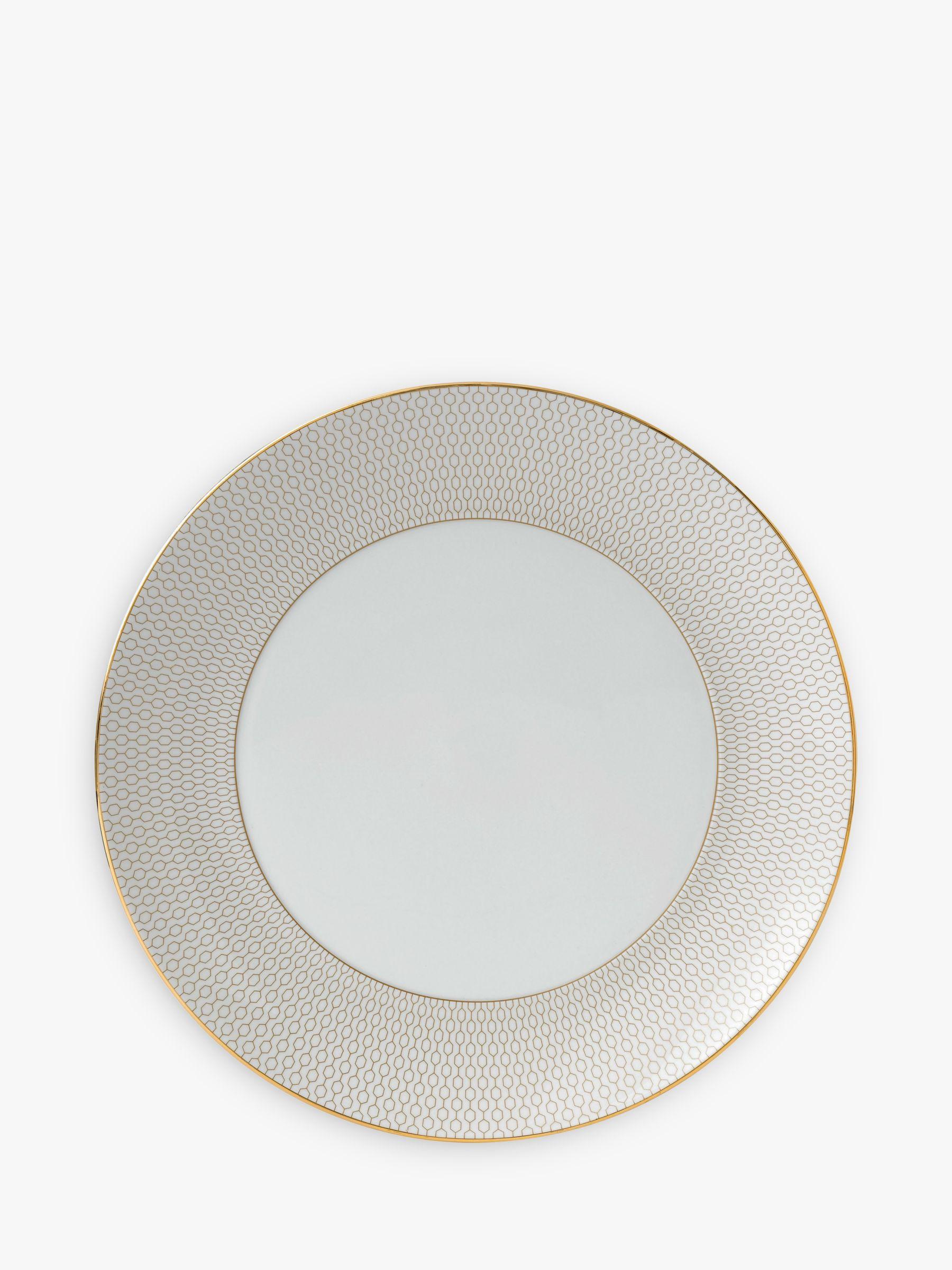 Wedgwood Wedgwood Arris Dinner Plate, 28cm, Gold/White