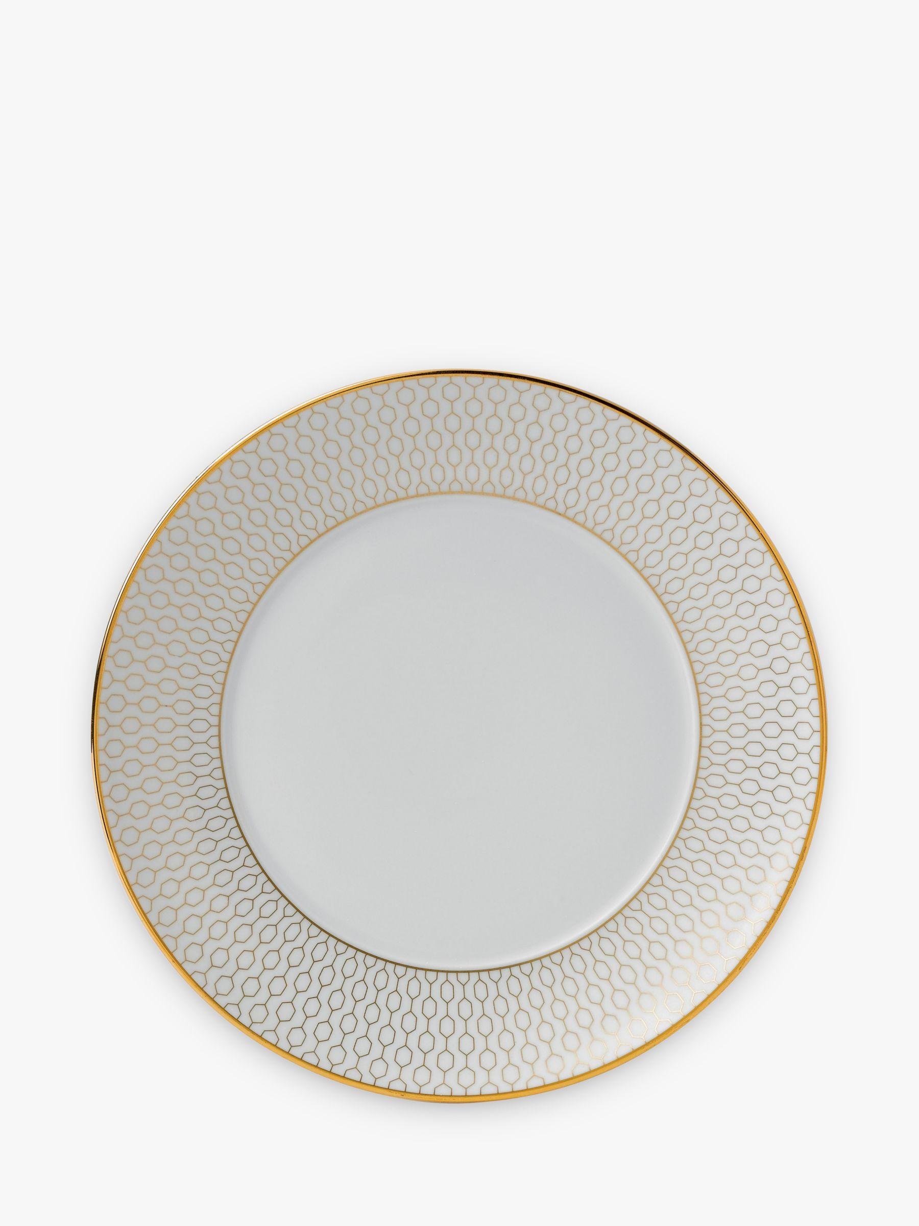 Wedgwood Wedgwood Arris Side Plate, 17cm, Gold/White