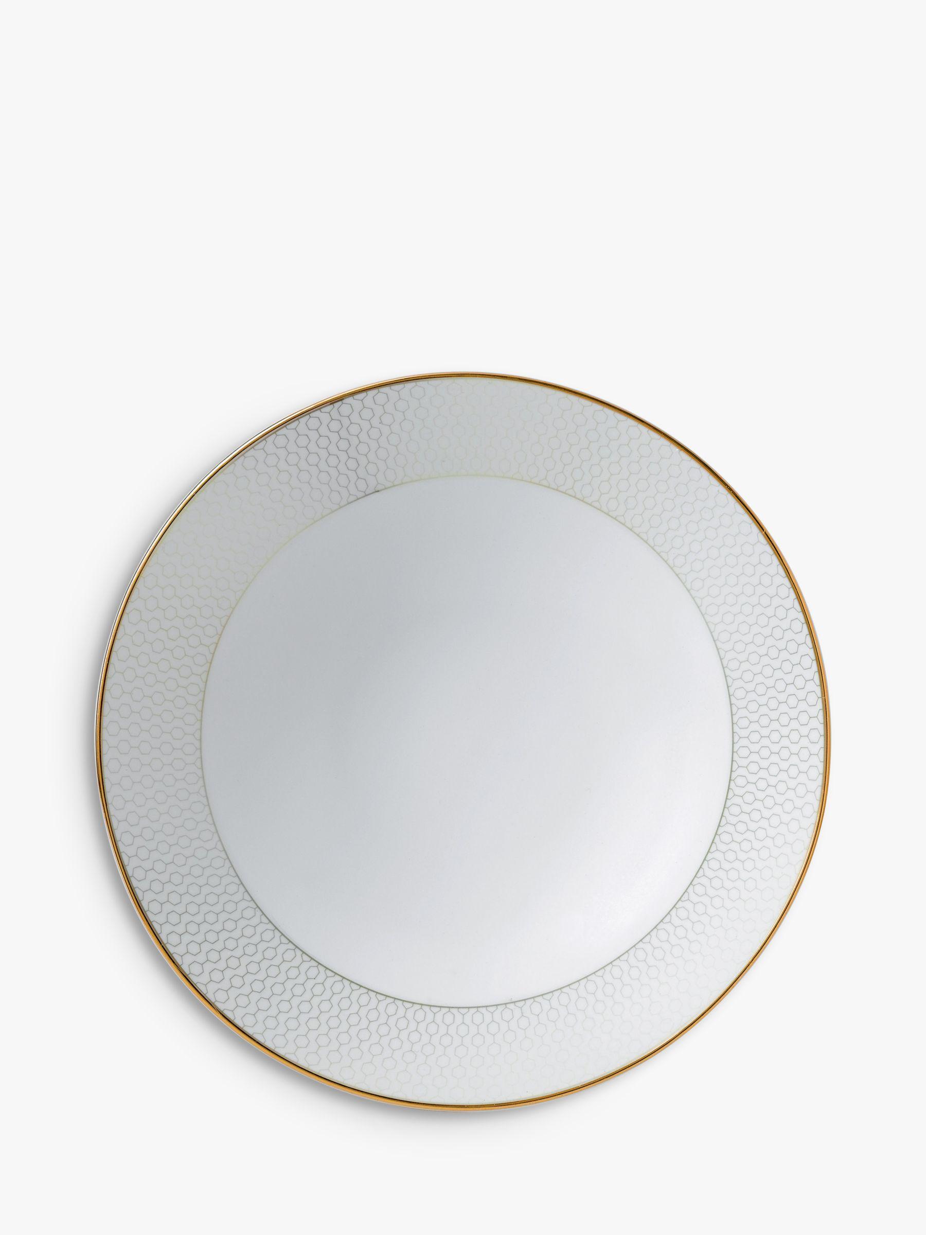 Wedgwood Wedgwood Arris Pasta Bowl, 28cm, Gold/White