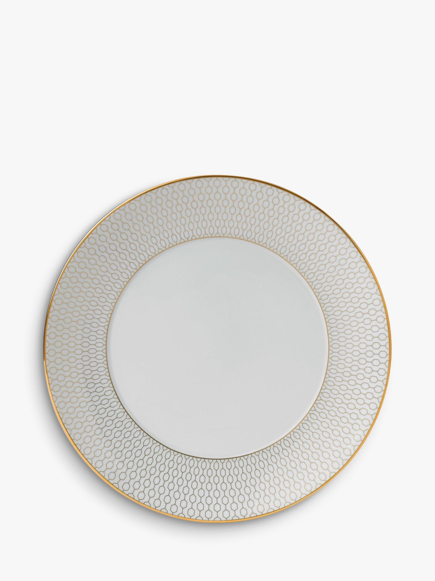 Wedgwood Wedgwood Arris Salad Plate, 20cm, Gold/White