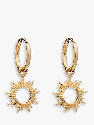 Rachel Jackson London Sunray Mini Hoop Earrings