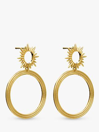 Rachel Jackson London Electric Goddess Hoop Drop Earrings