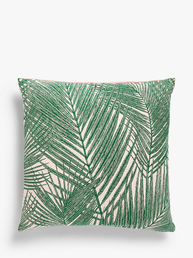 Buy John Lewis & Partners Palma Cushion, Green Online at johnlewis.com