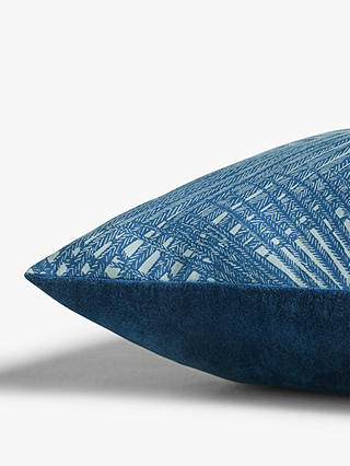 Buy John Lewis & Partners Palma Cushion, Blue Online at johnlewis.com