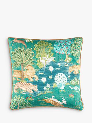 Sanderson Pamir Gardens Cushion, Green / Multi