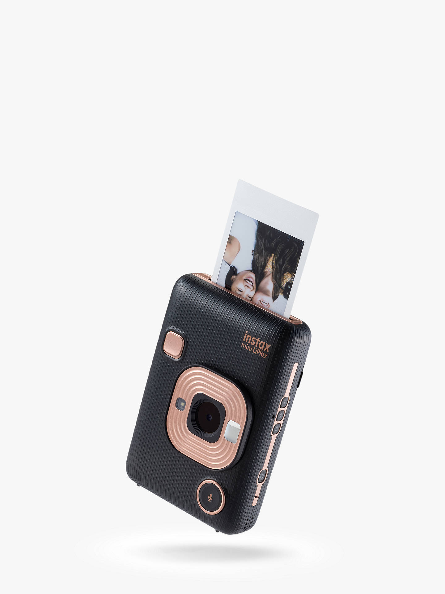 "Buy Fujifilm Instax Mini LiPlay Hybrid Instant Camera with 2.7"" LCD Screen & Built-in Flash, Elegant Black Online at johnlewis.com"