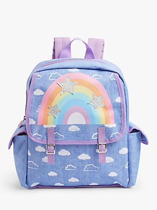 John Lewis & Partners Rainbow Stars Children's Backpack