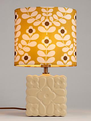 Orla Kiely Juniper Stem Ceramic Table Lamp, Yellow