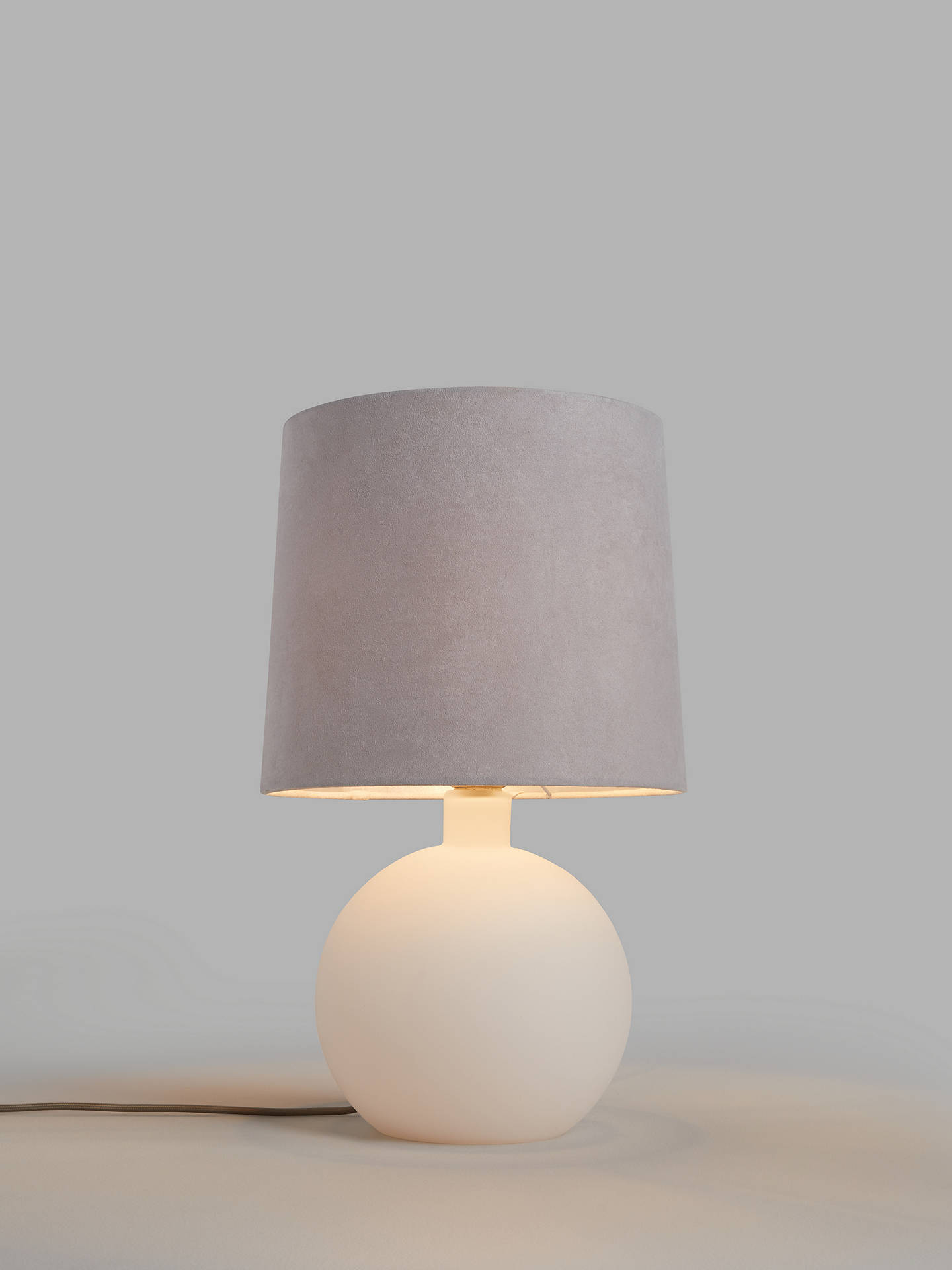 John Lewis Partners Eclipse Frosted Glass Table Lamp Matt White
