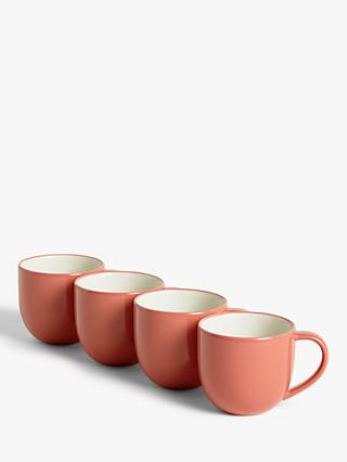 House by John Lewis Stoneware Mugs, Set of 4, 340ml